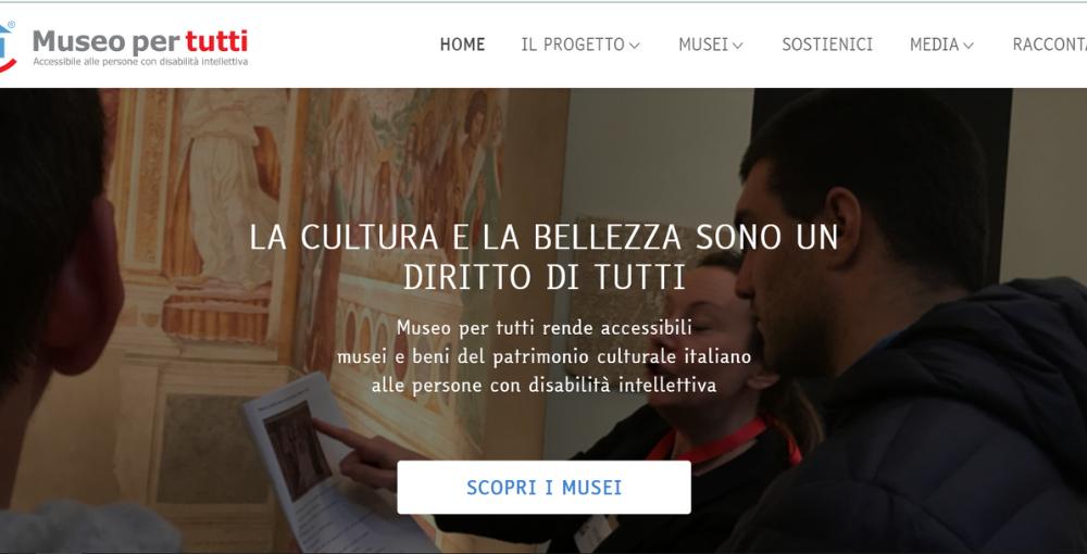 online sito museo per tutti